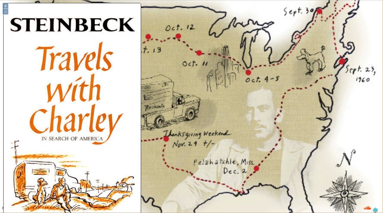 Storymap Tell Your Story in Place – Travels With Charley Map